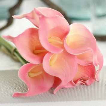 Lovely Calla Artificial Flowers For Wedding Decoration