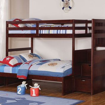Jacob Twin over Full Bunk Bed with Stairs
