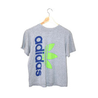 vintage Adidas tshirt 90s grunge heather grey worn in athletic tee