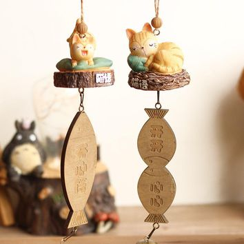 Cartoon Resin My Neighbor Totoro Cat Wind Chimes Hanging Decoration