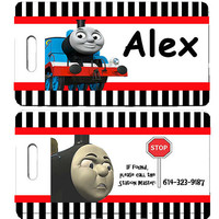 Personalized Thomas the Train Theme Childs Luggage Tag