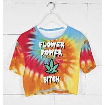 Flower Power Crop Top T-Shirt