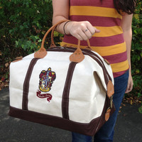 Hogwarts House Canvas Weekend Duffle Bag
