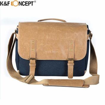 K&F CONCEPT DSLR Shoulder Bag with Waterproof  high-quality material, High-density adjustable strap, Air-cushioned shoulder pad