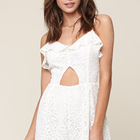 Me To We Star-Crossed Lace Cutout Romper at PacSun.com