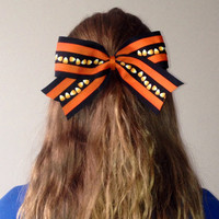 Candy Corn Halloween Cheer Bow