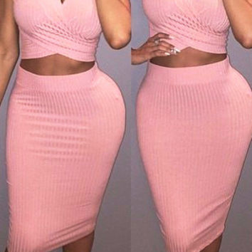 Pink Knit Co-Ord