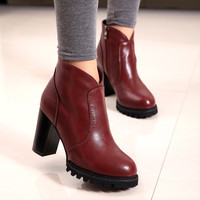 On Sale Hot Deal Winter England Style Stylish High Heel Boots [7993611649]
