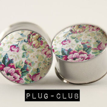 Vintage Wallflower Floral Plugs by Plug-Club
