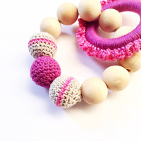 Crochet baby teething toy, A perfect baby gift