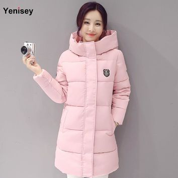 2017 Down parka women autumn winter coat down long coat 8665 winter jacket women coat