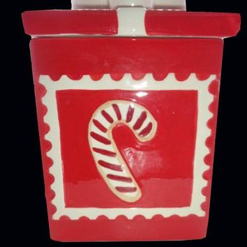 Red Package Christmas Cookie Jar