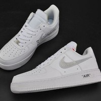 PEAPONVX Jacklish Cheap Virgil Abloh X Nike Air Force 1 Low Off-white For Sale
