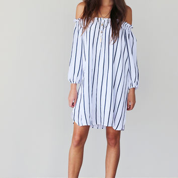 STAYCATION OFF SHOULDER DRESS