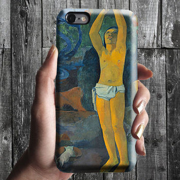 Where, What - Paul Gauguin iPhone Case 6, 6S, 6 Plus, 4S, 5S. Mobile Phone Cell. Art Painting. Gift Idea. Anniversary. Gift for him and her