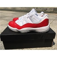 Air Jordan 11 white/red Basketball Shoes 41-47