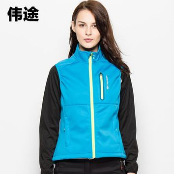 WEITU New Spring Autumn Female Vest Outdoor Breathable Clothes Soft Shell Vest Hiking Terkking Fishing Climbing Warm Waistcoat