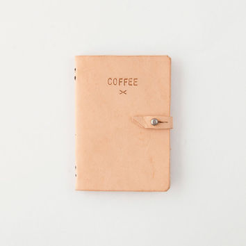 Leather Bound 33 Days of Coffee Journal [Coffee Leather Journal] : ORN HANSEN, Vintage + American Made General Store
