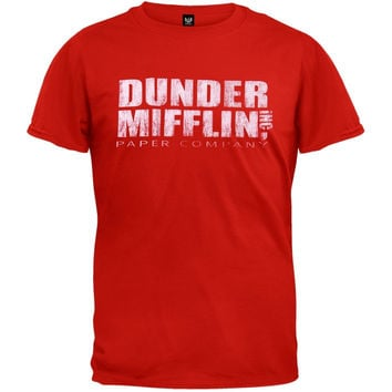 The Office - Dunder Mifflin Red T-Shirt