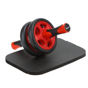 New No Noise Abdominal Wheel  Ab Roller with Mat for Exercise Fitness Equipment Accessory