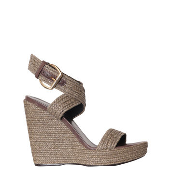 Stuart Weitzman Encore nappa wedged sandals