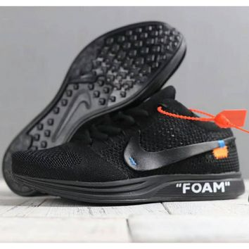 Nike men and women shoes FLEX fly sneakers mesh casual running shoes F-SSRS-CJZX black