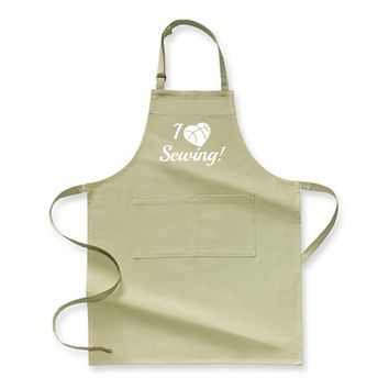 I Love Sewing Heart Crafts Yarn, Sewing Apron