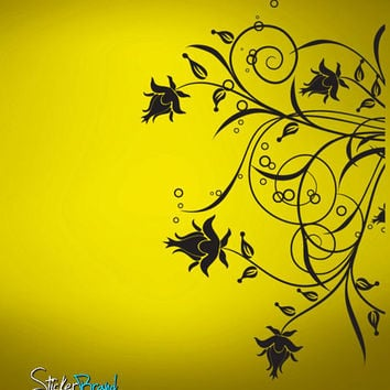 Vinyl Wall Decal Sticker Swirl Flower Circles #716