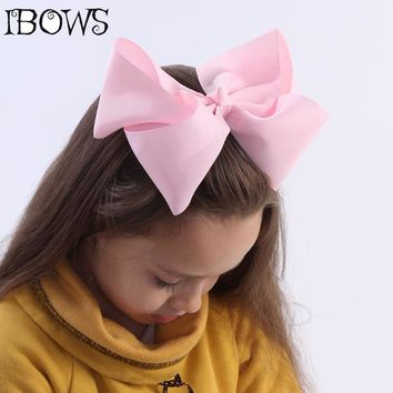 Girls  Big Ribbon Hair Bow Clips