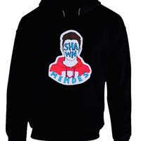 Shawn Mendes Fan Art Iin Red Jacket Hoodie