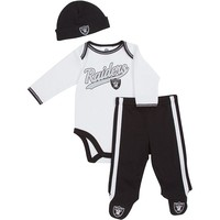 Oakland Raiders Bodysuit & Footed Pants Set - Baby