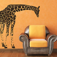 Giraffe Wall Decal Animals Vinyl Sticker Decals Nursery Home Bedroom Decor C548