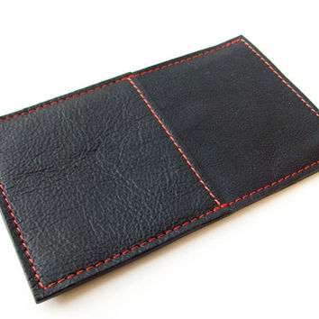 Black Leather Iphone 5 and Iphone 5S Sleeve, Men's Iphone 5 Case