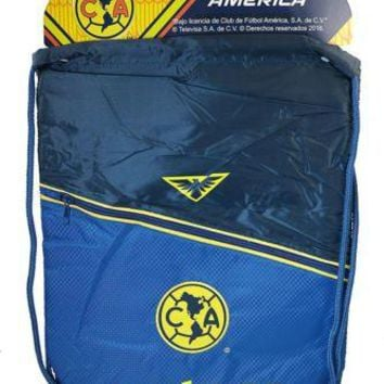 Club America Authentic Official Licensed Soccer Drawstring Cinch Sack Bag 004