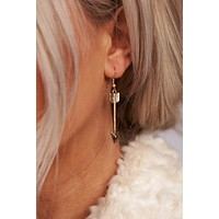 No Questions Asked Dangle Earrings (Antique Gold)
