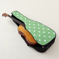 Green Apple Polka Dots Guitar Case