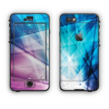 The Vibrant Blue and Pink HD Shards Apple iPhone 6 Plus LifeProof Nuud Case Skin Set
