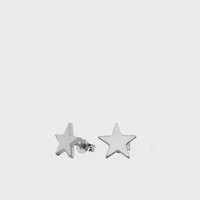 Star Stud Earrings - silver