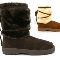 Ladies Womens New Winter Snug Grip Sole Flat Ankle Boots Size