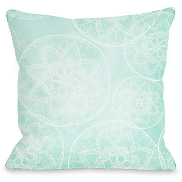 """Doily Pattern"" Indoor Throw Pillow by OneBellaCasa, 16""x16"""