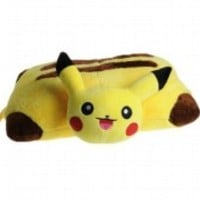 Pokemon Pikachu Transforming Pillow Pet Nap Sleep Car Soft Cushion Plush Toy