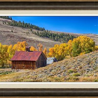 Colorado Rustic Rural Barn With Autumn Colors Framed Print