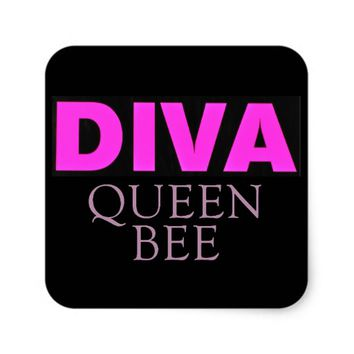 Diva Square Sticker
