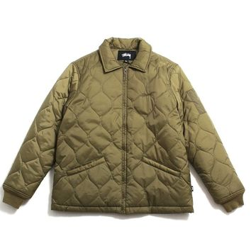 Quilted Work Jacket Olive
