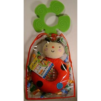 Rattling Ladybug K's Kids Stroller Pals Baby Activity Toy Ohio Art Plush Infant