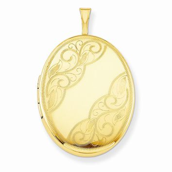 1/20 Gold Filled 26mm Swirled Oval Locket