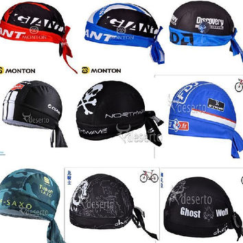 Quick Dry 2016 Cycling Cap Sweatproof Sunscreen Headwear Bike Team Scarf Coif Bicycle Bandana Pirate Headband Hood Sports Hat