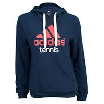 Adidas Tennis Hoody Medium Womens Navy Blue