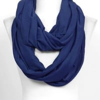 Navy Solid Jersey Infinity Scarf