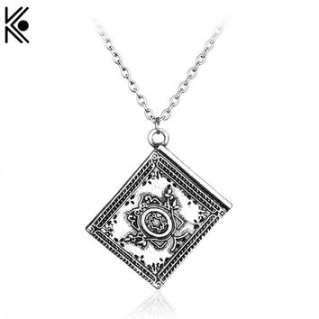 New fashion Free Shipping  3D Henry Book Once Upon a Time Book Pendant Necklace High Quality statement chain link jewelry